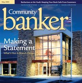 Community Banker magazine cover - Branch Design