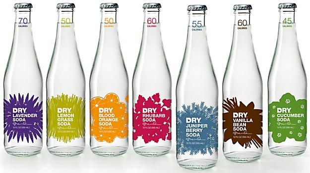 DRY Soda packaging