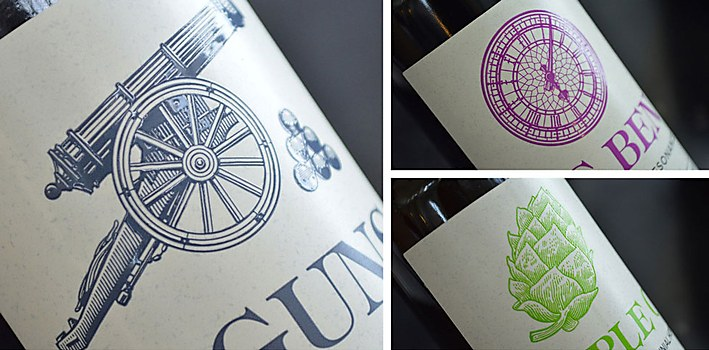 Crafty Dan Beer labels