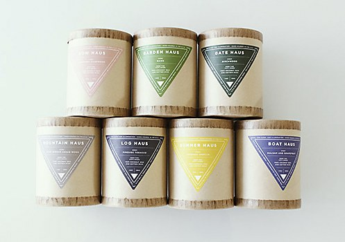 Haus Candles packaging