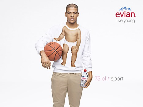 Evian print ads