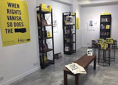 Amnesty International Hong Kong pop-up bookstore