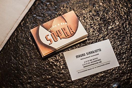 SOPRA restaurant identity