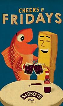 Sarson's Malt Vinegar print ad