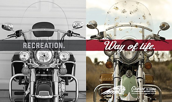 Indian Motorcycle ads