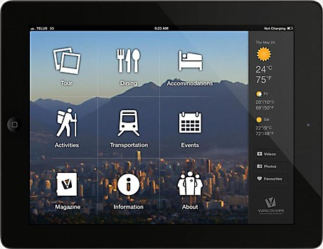 Visit Vancouver iPad app