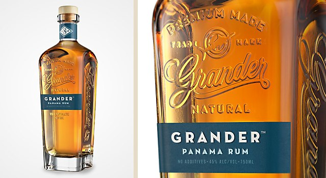 Grander Panama Rum packaging