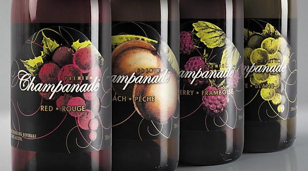 Champanade labels