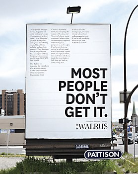 The Walrus transit ads