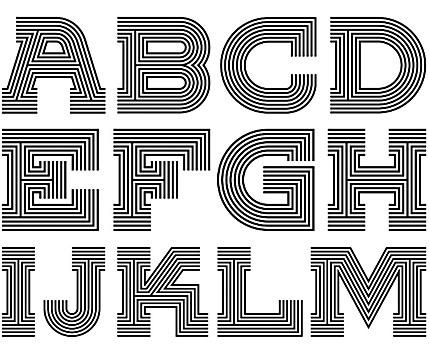 Vinyl custom font
