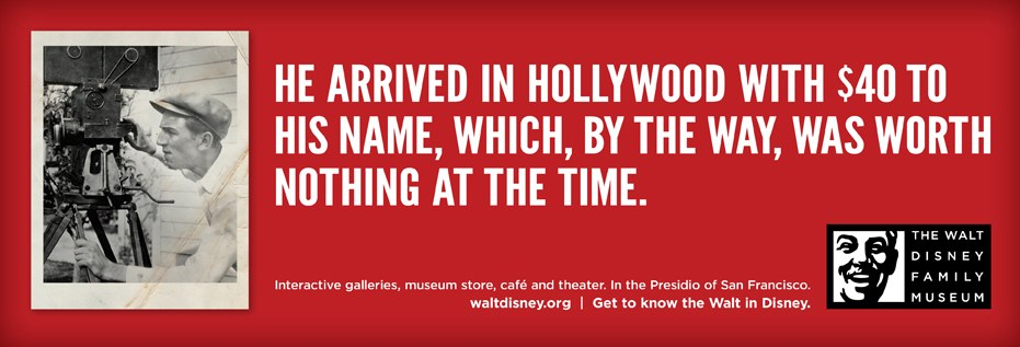 The Walt Disney Family Museum campaign