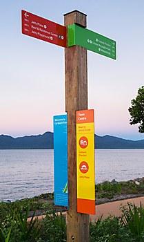 Cardwell Foreshore wayfinding signage