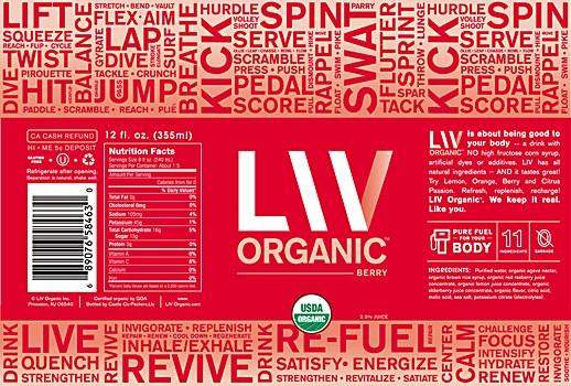 LIV Organic packaging rebrand