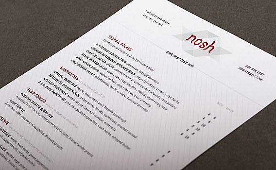 Nosh Restaurant identity