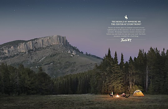 Wyoming Office of Tourism print ads