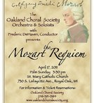Concert flyer for the Oakland Choral Society