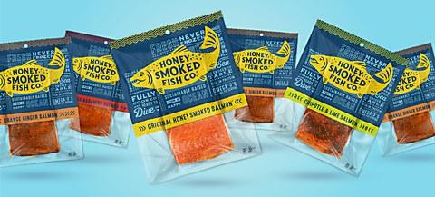 Honey Smoked Fish Co. packaging