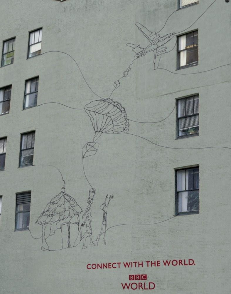 BBC World News wall decor/environmental graphics