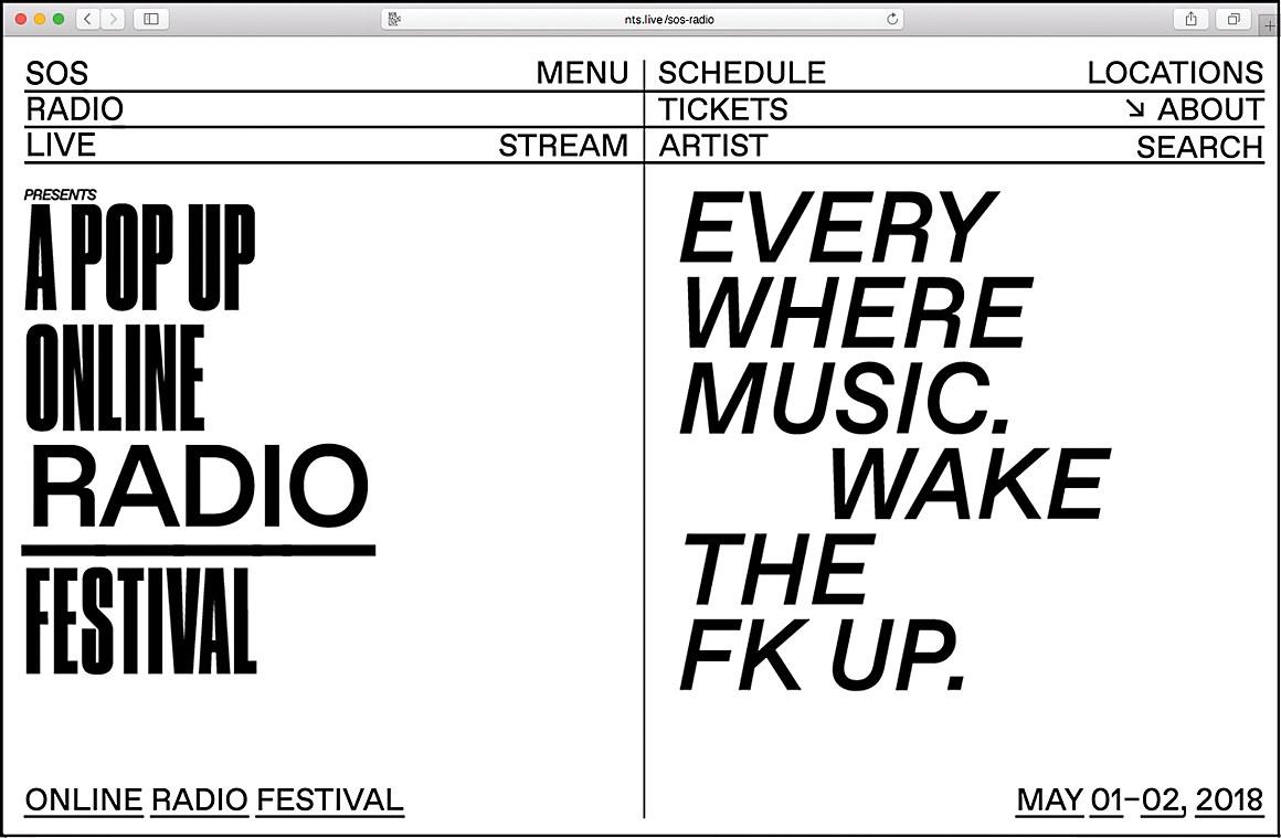 SOS Radio Festival   Communication Arts