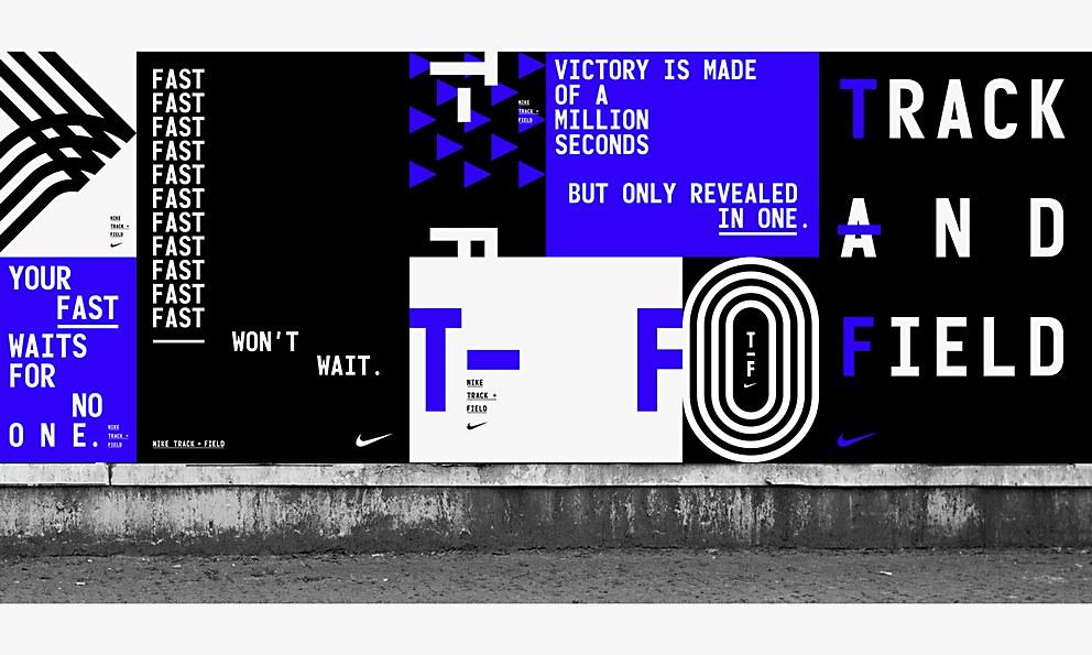 the latest 9e629 2f26c Nike Track + Field identity   Communication Arts