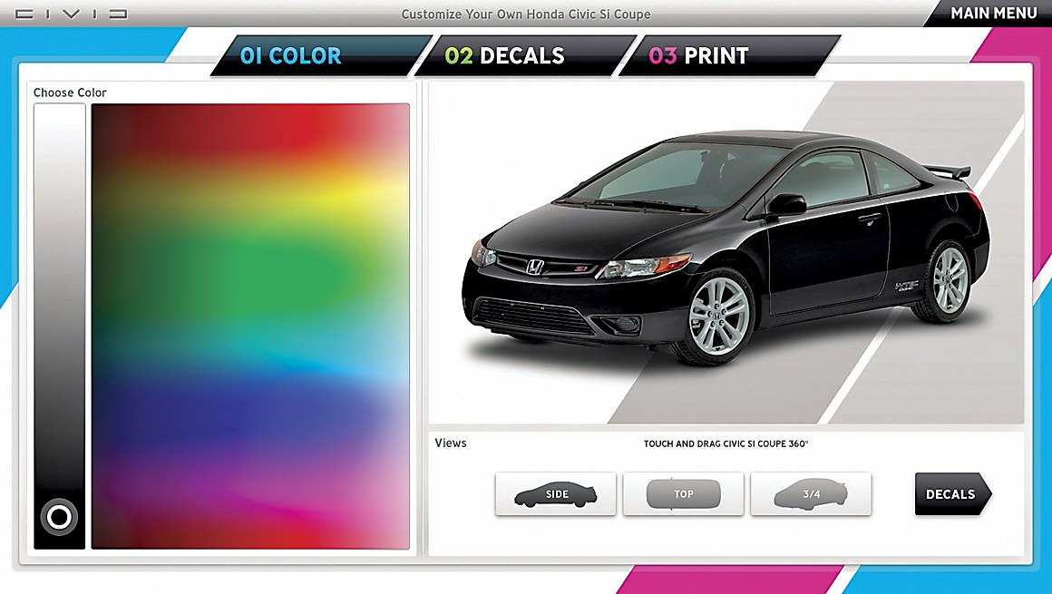 Customize Your Own Car >> Customize Your Own Honda Civic Communication Arts