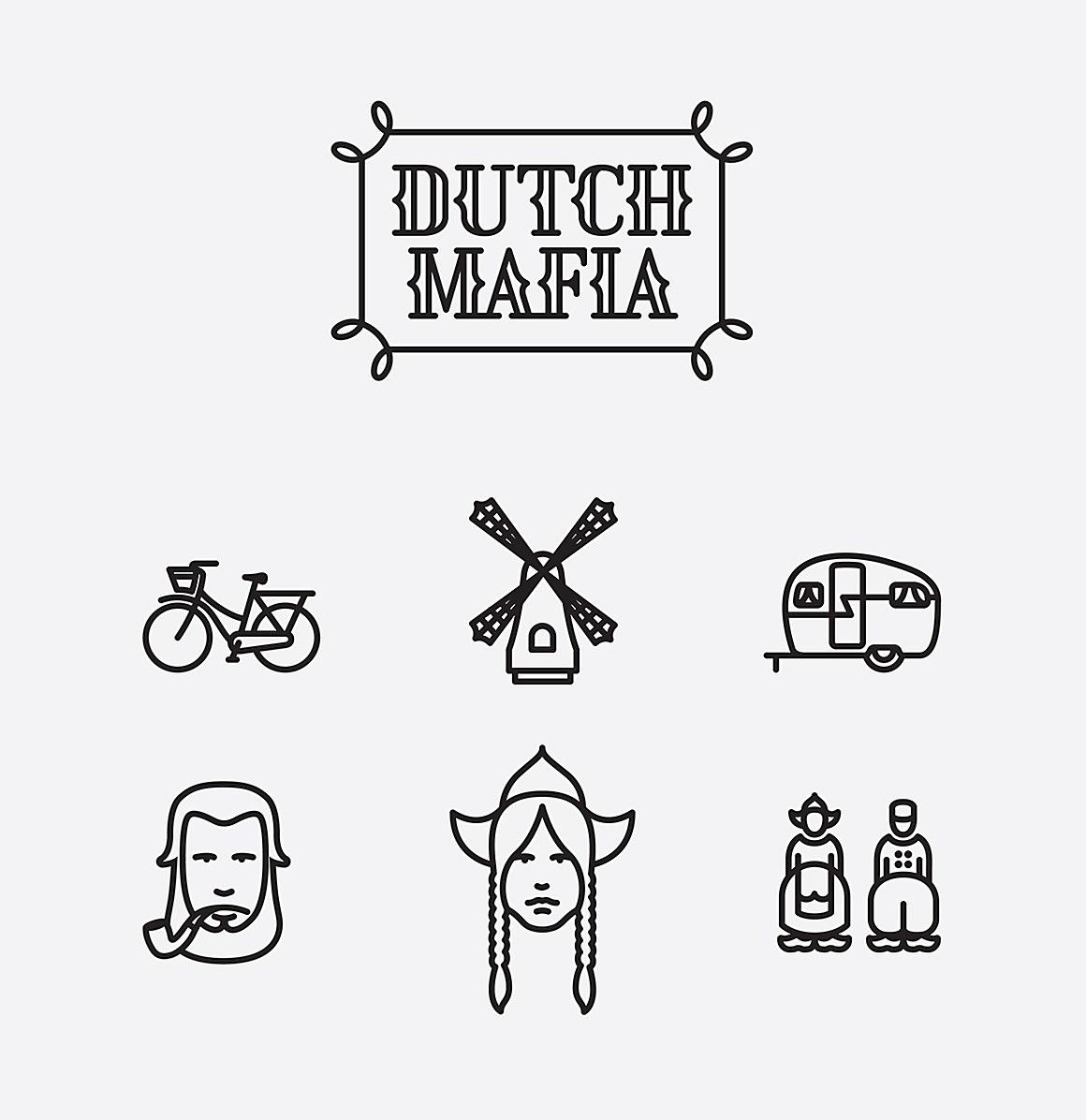 Dutch mafia font and icon set communication arts dutch mafia font and icon set biocorpaavc